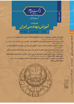 چاپ مقالات برگزیده کنفرانس در فصلنامه آموزش مهندسی ایران